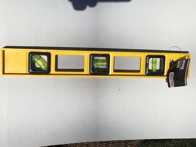"16"" LEVEL NEW From Tool Bench Hardware Heavy Yellow Plastic FREE FAST SHIPPING"