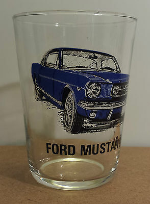 Ford Mustang GT Vintage Juice Glass Engine Specs Listed In French Sports Cars