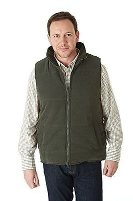 Burnmoor - Sherwood Forest Quilted Bodywarmer Homme [Olive] [Large] NEUF