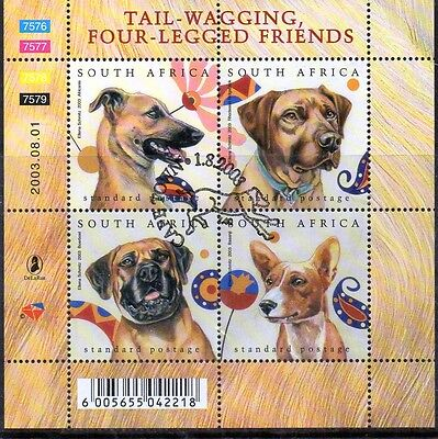 SOUTH AFRICA :  2003 TAIL WAGGING FOUR LEGGED FRIENDS  M/S Fine Used.