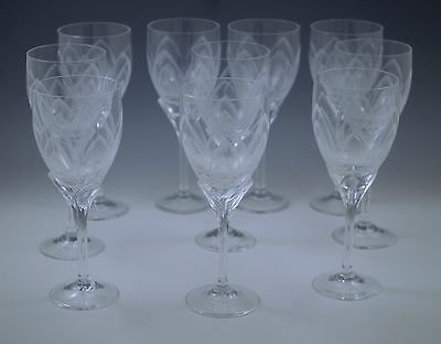 ROSENTHAL STUDIO IRIS FROSTED, ETCHED set of 10  WINE GOBLETS MODERN
