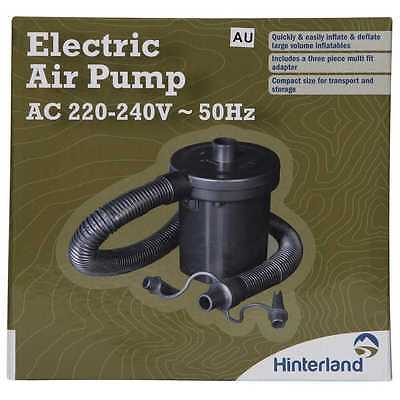 Electric Air Pump 240V AC for Inflatabe Bed Mattress Electric Quick Camping Pool