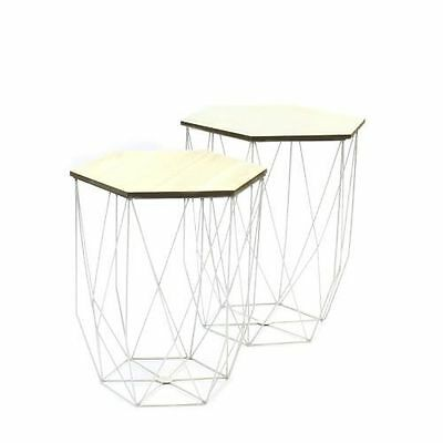 THDF - Lot de 2 tables gigognes filaires The Home Deco Factory [Blanc] NEUF