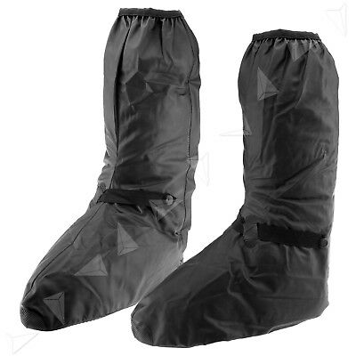 Black Waterproof Rain Overboot Shoe Cover Motocycle Protect Gear Shoes XXL