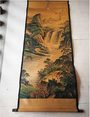 Rare antique chinese museum painting scroll Landscape painting /Zheng Banqiao aa