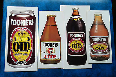TOOHEYS  OLD  ALE ..  Original Vintage  1980,s  Pub  Beer Fridge stickers