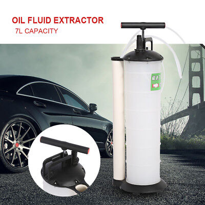 7L Manual Oil Suction Vacuum Changer Extractor Fluid Pump Transfer Oil Fuel Up