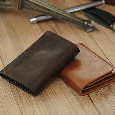 Men Pig Sole Leather Wallet Magnetic Buckle Trifold Short Card Holder Cheaply