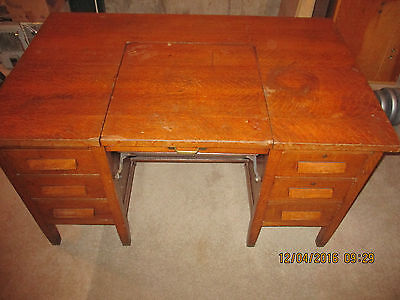 Vintage Oak Typewriter Desk