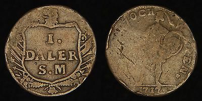 "SWEDEN - 1717 Daler - Carl XII - ""Reason and Arms"" Issue"