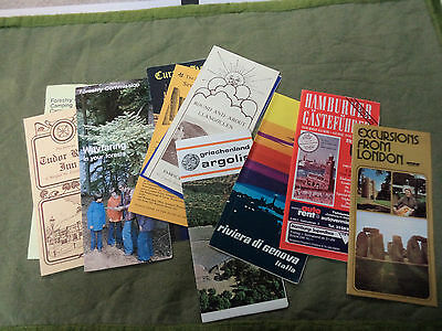 #CC5. ABOUT 85 POSTCARDS & TOUR BROCHURES FROM 1960s/70s