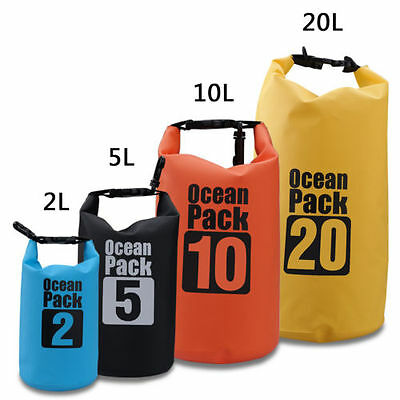 2L 5L 10L 20L New Dry Carry Bag Waterproof Backpack Storage Boat Water Sports