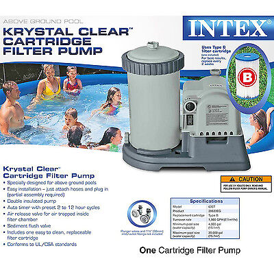 Intex Krystal Clear Sand Filter Pump for Above Ground Pools 2500 GPH Pump Fl New