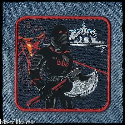 KAT 666 Metal And Hell red border woven patch aufnäher