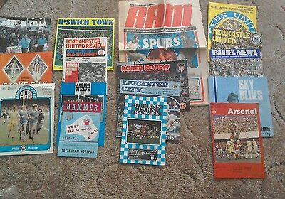 Job lot of 17 (full set -4) Tottenham Hotspur away league programmes 1976/77