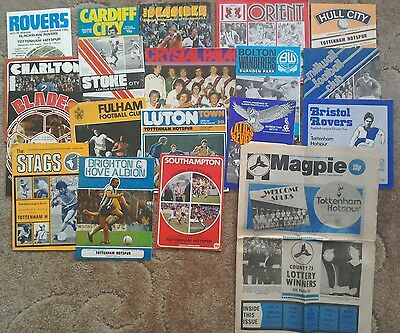 Full set -2 19 x Tottenham Hotspur away league programmes 1977/78 promotion