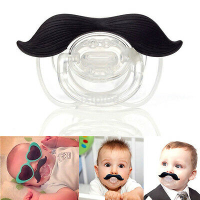 Mustache Baby Boy Infant Pacifier Orthodontic Dummy Beard Nipple Soother new au
