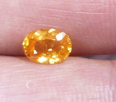 SG00131 1.12 ct 100%natural yellow super laster spessartine garnet.
