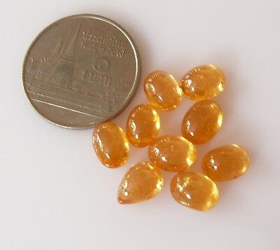 sG000248 15.25ct.(all9p) cabochon fanta,yellow 100% natural spessartite garnet.