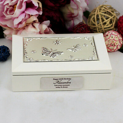 Personalised 21st Birthday White Jewel Box Gift - Add a Name & Message