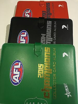 2013/2014/2015 Afl Select  Champions (3) Albums&all 220 Footy Card Common Sets