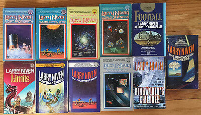 Larry Niven 10 paberback lot Ringworld Engineers Footfall