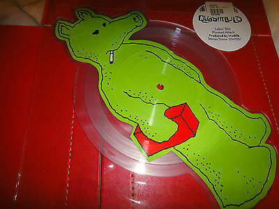 Quasimoto Talkin Shit - Die Cut Picture Disc Green Quas Version Rare!!!!