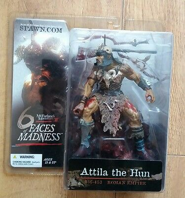"Attila the Hun Figure 6"" McFarlane Six Faces of Madness Rare Unopened Spawn"