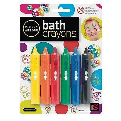 NEW Bath Crayons - Baby Kids Non Toxic Bathing Fun Write On Wipe Off Water Toy