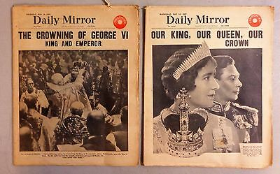 Vintage Daily Mirror Newspaper Our King & Crowning of King George VI May 1937