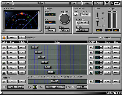 Waves SuperTap DELAY plug-in *NEW*+1yr WUP Latest Version V9 Plug-In