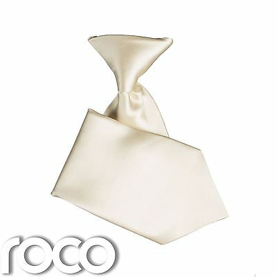 Boys Ivory Elasticated Tie Wedding Prom Page Boys Communion Ties