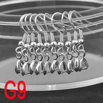 100PCS French Hook Earwires Earrings Components Silver Jewelry Making Findings