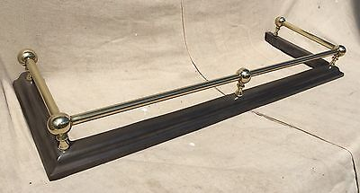 Original Antique Restored 19thC Cast Iron and Brass Post and Rail Fender Kerb