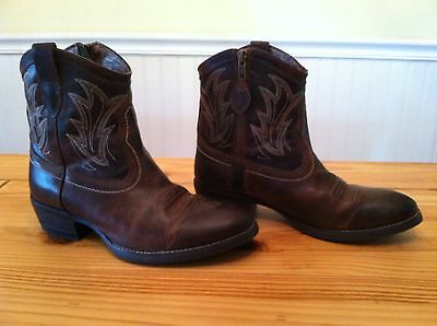 Women's Western Ariat Sassy Billie Ankle Boots Size 7B Worn Once!