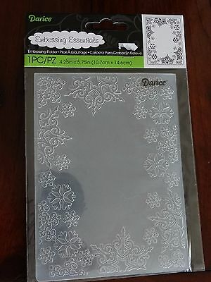 Darice Snowflake Backround Embossing Folder