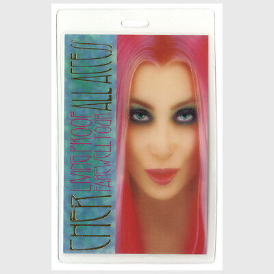 Cher authentic 2002 Laminated Backstage Pass Living Proof Farewell Tour AA