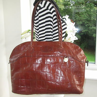 Authentic Large Mulberry Chestnut Brown Congo Leather Tetbury Shoulder Hand Bag