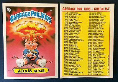 Adam Bomb 8a Garbage Pail Kids ~ UK Series 1 (1985) Very Good Condition ~ Rare