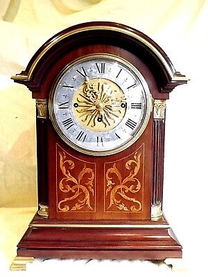 Amazing 19c Inlaid Mahogany Triple Fusee Bracket Clock.