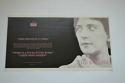 "The Smiths  ORIGINAL UN-RELEASED GIRLFRIEND IN A COMA 12"" SLEEVE  MORRISSEY"
