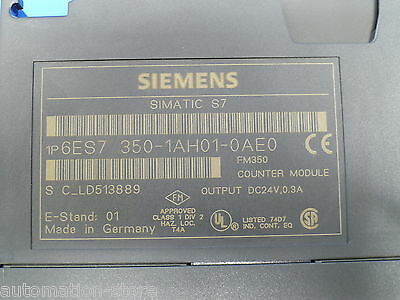 Siemens SIMATIC S7/M7, COUNTER MODULE FM 350-1, 6ES7350-1AH01-0AE0, Used, Tested