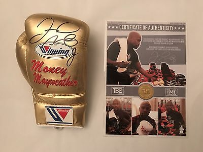 Floyd Mayweather TMT Signed Glove $€£¥ Photo Proof Exclusive Signing TMT C.O.A