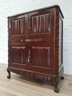 Chippendale Style Walnut Drinks Cabinet (DELIVERY AVAILABLE)
