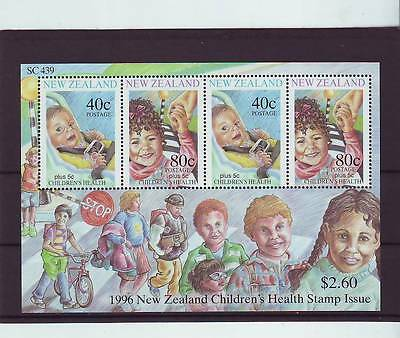 New Zealand - Sgms2002 Mnh 1996 Health Stamps - Child Safety