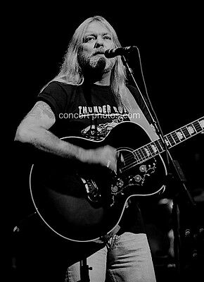 "Gregg Allman Playing Guitar 8""x10"" BW Concert Photo"