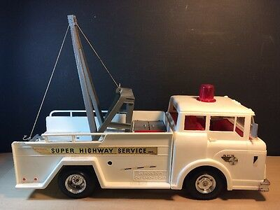 Vintage Marx Big Bruiser Super Highway Service Tow Truck Toy for PARTS REPAIR