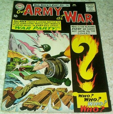 Our Army at War 151, VF (8.0) 1965 1st Enemy Ace! 35% off Guide!