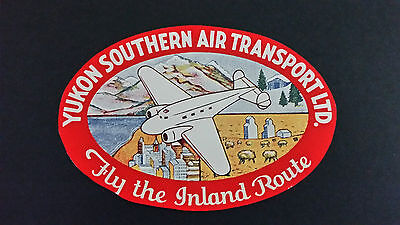 Yukon Southern Air Transport airline label ** Rare **
