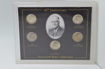 50th Anniversary Roosevelt Dime Collection in Holder {B3}